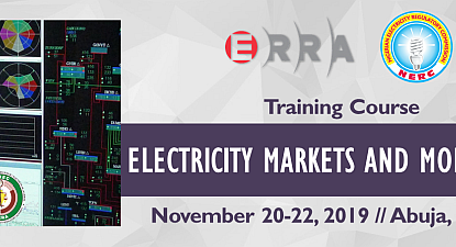 ERRA Training Course on Electricity Markets and Monitoring, November 20-22, 2019//Abuja, Nigeria